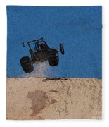 Dune Buggy Jump Fleece Blanket