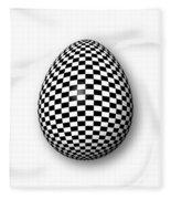 Egg Checkered Fleece Blanket