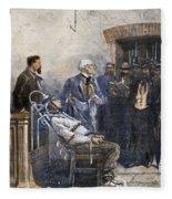 Electrocution, 1890 Fleece Blanket