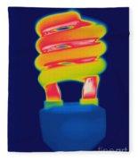 Energy Efficient Fluorescent Light Fleece Blanket
