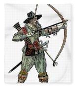 English Archer, 1634 Fleece Blanket