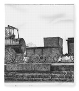 English Locomotive, 1825 Fleece Blanket