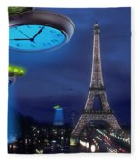 European Time Traveler Fleece Blanket