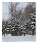 Evergreen Trees Fleece Blanket