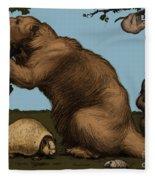 Extinct Fauna Fleece Blanket