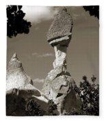 Fairy Chimney In Goreme Fleece Blanket