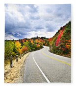 Fall Highway Fleece Blanket