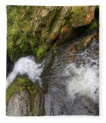 Fall Of Water Fleece Blanket