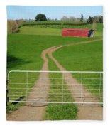Farming Scene Fleece Blanket