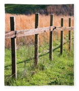 Fence Perspective Fleece Blanket