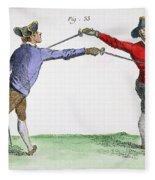 Fencing, 18th Century Fleece Blanket
