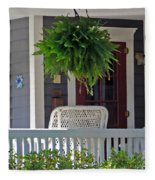 Fern On Front Porch Fleece Blanket