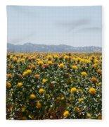 Fields Of Safflowers Fleece Blanket