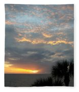 Fiery Sky Fleece Blanket