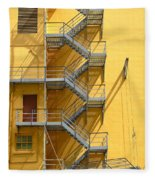 Fire Escape Fleece Blanket