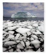 Floating Ice Shattered From Iceberg Fleece Blanket