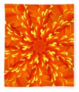 Floral Sunrise Fleece Blanket