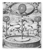 Flower Clock, 1643 Fleece Blanket