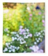 Flower Garden In Sunshine Fleece Blanket