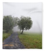Foggy Landscape Fleece Blanket