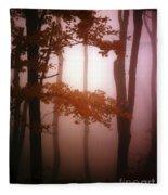 Foggy Misty Trees Fleece Blanket