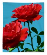 Forests Flowers Fleece Blanket