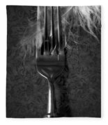 Fork And Feather Fleece Blanket