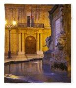 Fountain Aix-en-provence Fleece Blanket