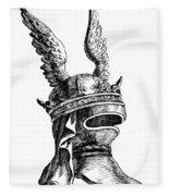 French Medieval Helmet Fleece Blanket
