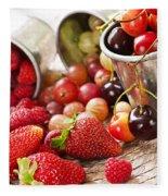 Fruits And Berries Fleece Blanket