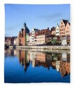 Gdansk Old Town And Motlawa River Fleece Blanket