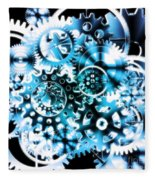 Gears Wheels Design  Fleece Blanket