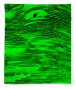 Gentle Giant In Negative Green Fleece Blanket