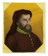 Geoffrey Chaucer, Father Of English Fleece Blanket