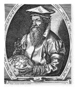 Gerardus Mercator, Flemish Cartographer Fleece Blanket