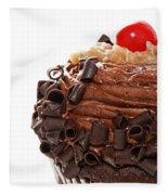 German Chocolate Cupcake 2 Fleece Blanket