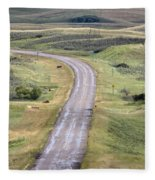Ghost Town Galilee Saskatchewan Fleece Blanket