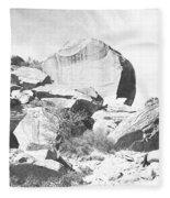 Giant Sandstone Boulders Fleece Blanket
