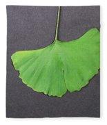 Ginkgo Leaf Fleece Blanket
