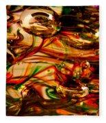 Glass Macro Vii Fleece Blanket
