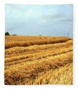 Golden Harvest Field 1 Fleece Blanket