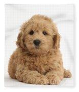 Goldendoodle Puppy Fleece Blanket