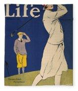 Golfing: Magazine Cover Fleece Blanket