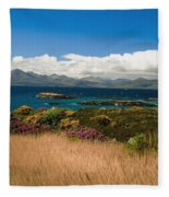 Gorse And Rhododendron Bushes Fleece Blanket