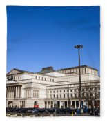 Grand Theatre In Warsaw Fleece Blanket