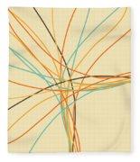 Graphic Line Pattern Fleece Blanket