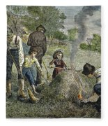 Grasshopper Plague, 1875 Fleece Blanket