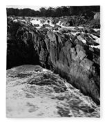 Great Falls Virginia Bw Fleece Blanket