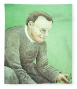 Gregor Mendel, Father Of Genetics Fleece Blanket
