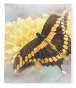 Grunge Giant Swallowtail Fleece Blanket